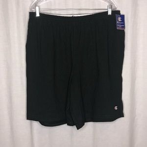 NEW Champion Black Elastic Waistband Shorts 2XL